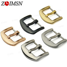 16 18 20 22 24mm THICK Solid Stainless Steel Watch Band Deployment Clasp Buckle