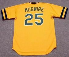 MARK MCGWIRE Oakland Athletics 1986 Majestic Cooperstown Home Baseball Jersey