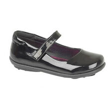 GIRLS MARY JANE INFANT KIDS BLACK BACK TO SCHOOL SHOES PATENT FORMAL CASUAL