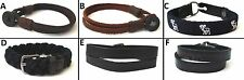 1 BRAND NEW ABERCROMBIE KIDS LEATHER, CLOTH WRISTBAND BRACELET OS, ADJUSTABLE