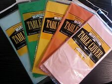 """Solid Color Plastic Table Cover Cloth Party Supply  54"""" x 108"""""""