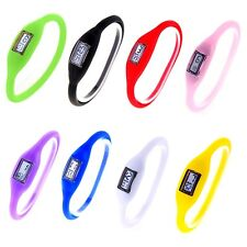 8 Colors Digital Silicone Rubber Jelly Anion Negative Ion Sports Bracelet Watch