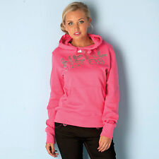 Henleys Womens Algar Foil Print Hoody In Pink From Get The Label