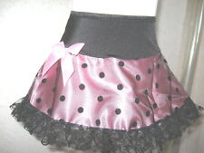 New Black,Pink,Polkadots Lace Frilly Skirt,Lolita,Punk,Goth,Rock,Dance-All Sizes