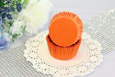 2'' Paper Cupcake Muffin Liners, Greaseproof, Baking Cups, Orange, Standard Size