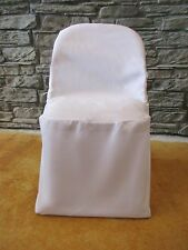 100 POLYESTER WEDDING FOLDING CHAIR COVERS White Ivory Black