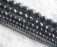 2mm 3mm 4mm 6mm 8mm 10mm Hematite Faceted Round Beads 16""