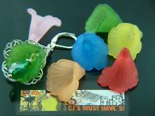 20 EX LARGE LUCITE ACRYLIC TRUMPET LILLY FLOWER BEADS 20mm CHOICE OF COLOURS MIX