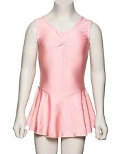 Girls Pink Lycra Ballet Dance Outfit Leotard With Skirt Dress KDR005 By Katz