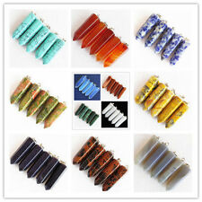 YIYI-44 5pcs Mesmerizing Faceted Mixed gemstone pendulum Pendant Bead Wholesale!