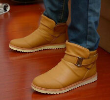 2013 Men'€™s All-match Ankle Boots Warm Leather Boots Korean Casual Shoes SS12