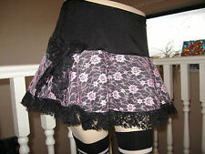 New  Black,Pink Floral lace Frilly Skirt,Lolita,Punk,Goth,Rock,Party All Sizes