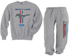 Crewneck sweatsuit classic Ford Mustang pony sweatshirt and sweatpants tracksuit