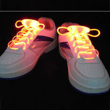 Hot Stuning LED Light Up Shoelaces Shoestring Flash Glow For Party KTV Bar Disco