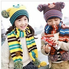 Sphere models robot girls and boys ear hat + Scarf Set