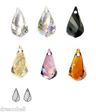SWAROVSKI CRYSTAL ELEMENTS 6020 Helix Teardrop Drop Pendant Variable Color Size