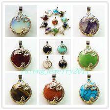 YIYI-60 Incomparable Mixed Gemstone Dragon Wrap Pendant Bead 1pcs or11pcs