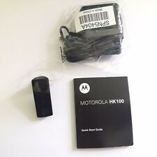 New Motorola HK-100 Bluetooth Universal Wireless Headset w/ Sound Cancellation