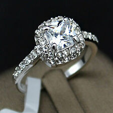White Gold Plated Elegant 2 Ct Diamond Sterling Silver Ring + FREE Shipping