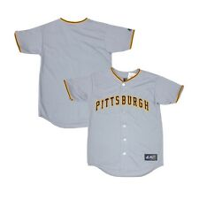 Pittsburgh Pirates YOUTH Gray Away Replica Majestic Blank Jersey