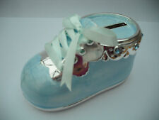 BABIES MONEY BOX BOOT OR PRAM IDEAL CHRISTENING GIFT LEONARDO COLLECTION