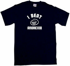 I Beat Anorexia SMILE Logo Men's Tee Shirt Pick Size SM - 6XL & Color