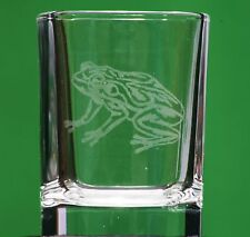 Frog Toad Countryside Nature Crystal Shot Glass Cup Ideal Gift British Animal