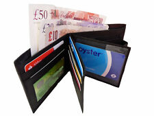 Real Leather Wallet Mens Mans Soft Credit Card Wallets GIFT BOXED Roamlite 727M