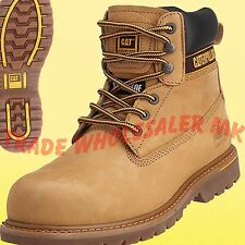 CATERPILLAR HOLTON HONEY STEEL TOE CAP SAFETY WORK BOOTS size 6,7,8,9,10,11,1213