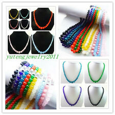 """Wholesale! Mixed Color Jade Round Necklace 17.5"""" [11 kinds of color you choose]"""