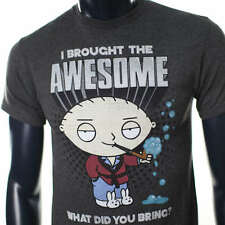 FAMILY GUY OFFICIAL STEWIE HUMOR GREY AWESOME ANIME CARTOON MENS TSHIRT TV