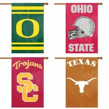 """Choose Your NCAA N-Z Team 44"""" x 28"""" Embroidered 2-Sided Applique Banner Flag"""