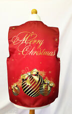 CLASSY BAUBLE RED DESIGN WACKY WAISTCOAT CHRISTMAS PATTERN FUN & FANCY