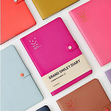 New Grand Smiley Diary Undated Journal Planner Organizers_B5/Synthetic leather