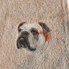 Bulldog Embroidered Towels