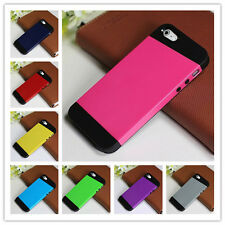 2 in 1 8 colors Black Soft Rubber and  Hard Plastic Cover Case For iPhone 5 5G J