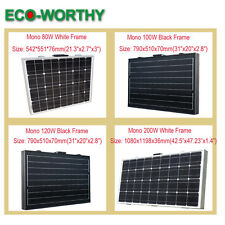 80W 100W 120W 160W 200W watt 12V  folding foldable portable solar panel RV boat