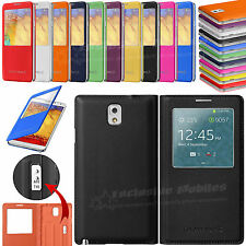 S-View Leather Wallet Smart Case Cover For SAMSUNG GALAXY NOTE 3 III N9000 N9005
