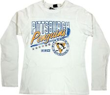 Pittsburgh Penguins Women's Reebok Paperwhite Waffle Top Long Sleeve Shirt