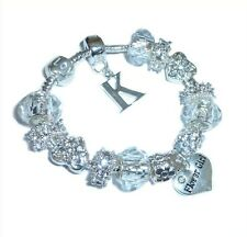 LADIES/GIRLS/CHILDRENS PERSONALISE PERFECT SPARKLE CHARM BRACELET GIFT BOXED