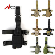Tactical Military Airsoft 1000D Pistol Drop Leg Thigh Holster Pouch Right Hand
