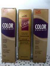 Wella COLOR PERFECT Permanent HAIRCOLOR Series 1 - 5  *YOUR CHOICE* gl bx ppl tb