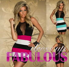 SEXY 6 8 10 WOMEN'S MINI DRESS TRENDY PARTY CLUBBING EVENING SUMMER WEAR CLOTHES