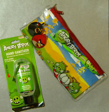 NEW Angry Birds Travel Tooth Brush Set & Hand Sanitizer  Green Pig or Red Bird