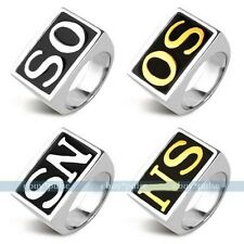 """New Punk Men's Stainless Steel Silver Golden """"SONS"""" Rings Size 8,9,10,11,12,13"""