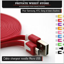 CABLE CHARGEUR MICRO USB SAMSUNG S3 S4 S5 GALAXY NOKIA HTC NOTE 3 4 MINI SONY LG