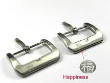 22mm 24mm Family Happiness Stainless steel Brushed Watch Bands Strap Pin Buckle