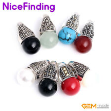 12mm Round Beads Marcasite Silver Necklace Pendant Jewelry For Women Presents