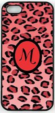 """Rikki Knight Letter """"M"""" Initial Red Leopard Print Monogrammed Case for iPhone 4,"""