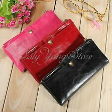 Lady Women Card Coin Long Purse Clutch Bifold Wallet PU Leather Bag Holder Gift